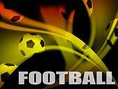 Football advertising poster