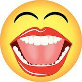 Laughing Smiley Emoticon Vector