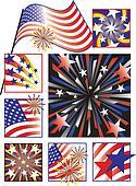 American Celebration in Gradients
