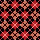 Argyle Pattern_Black-Red-Salmon