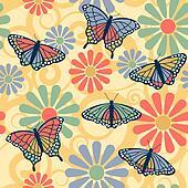 Butterfly Flower Pattern