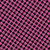 Different Houndstooth_Black-Magenta