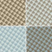 Different Houndstooth_Blue-Brown