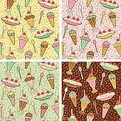 IceCream-Cherries-Sprinkles Pattern