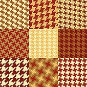 Nine Houndstooth Patterns