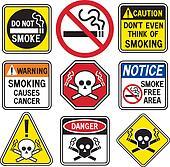 Smoking Hazard Signs
