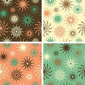 Sparkle Flower Pattern_Green-Salmon