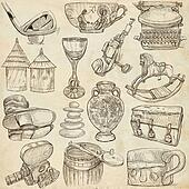 Objects - Hand drawings, Originals