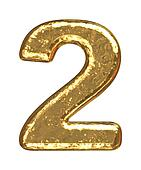 Golden font. Number two