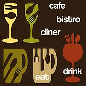 cafe food and drink concept graphics