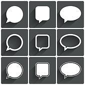 Speech bubble icons. Think cloud symbols.