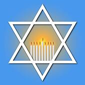 Star of David and Hanukkah Candles