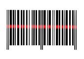 Scanning Empty Barcode Macro Closeup Isolated On White