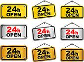 24 hour open sign