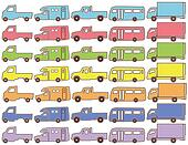 color pictogram of the truck