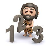 3d Caveman learns to count