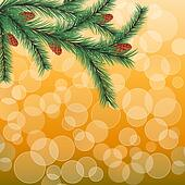 Floral background with a fir twig