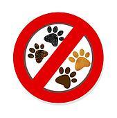 Interdiction paw  symbol sign