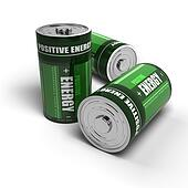 positive energy - batteries concept, meditation, relaxation