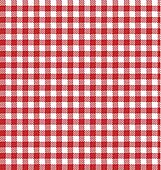 Red vector checkered picnic cloth