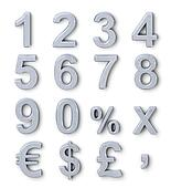 Silver numbers and symbols