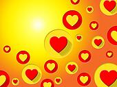 Copyspace Hearts Indicates Valentines Day And Background
