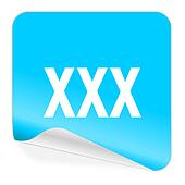 xxx blue sticker icon