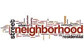 Neighborhood word cloud