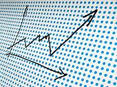 stock graph drawing
