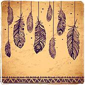 Beautiful illustration of feathers
