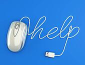 Computer help, white mouse.