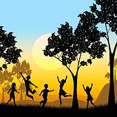 Playing Tree Represents Kids Youngsters And Childhood
