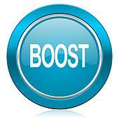 boost blue icon