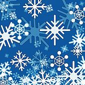 Blue Snowflakes Background Shows Winter And Frozen