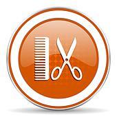 barber orange icon