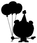 Silhouette Of A Birthday Bear