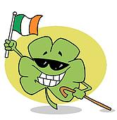 Clover with flag