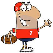Hispanic Cartoon Footballer Man