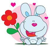 Joyful Blue Bunny Rabbit