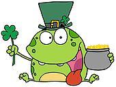 Green Leprechaun Frog