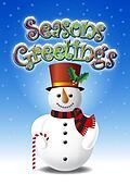 Snowman and Seasons Greetings