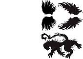 Vector Gothic Lion and Wings