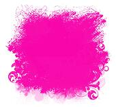 Pink Grunge Paint Smear Background