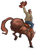 Bucking Rodeo Horse