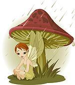 Fairy under Mushroom
