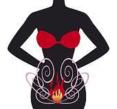 bikini black girl and fire