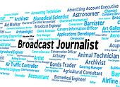 Broadcast Journalist Represents Lobby Correspondent And Broadcasted