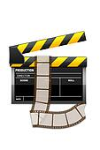 vector clapboard with reel