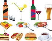 Restaurant Icons set for Menu