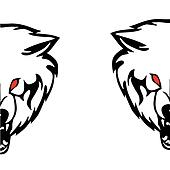 Head of a wolf.Vector illustration